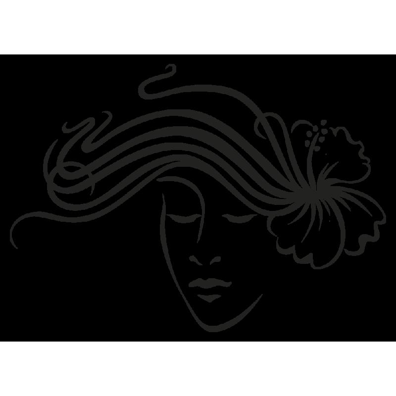 Sticker  Femme Hibiscus