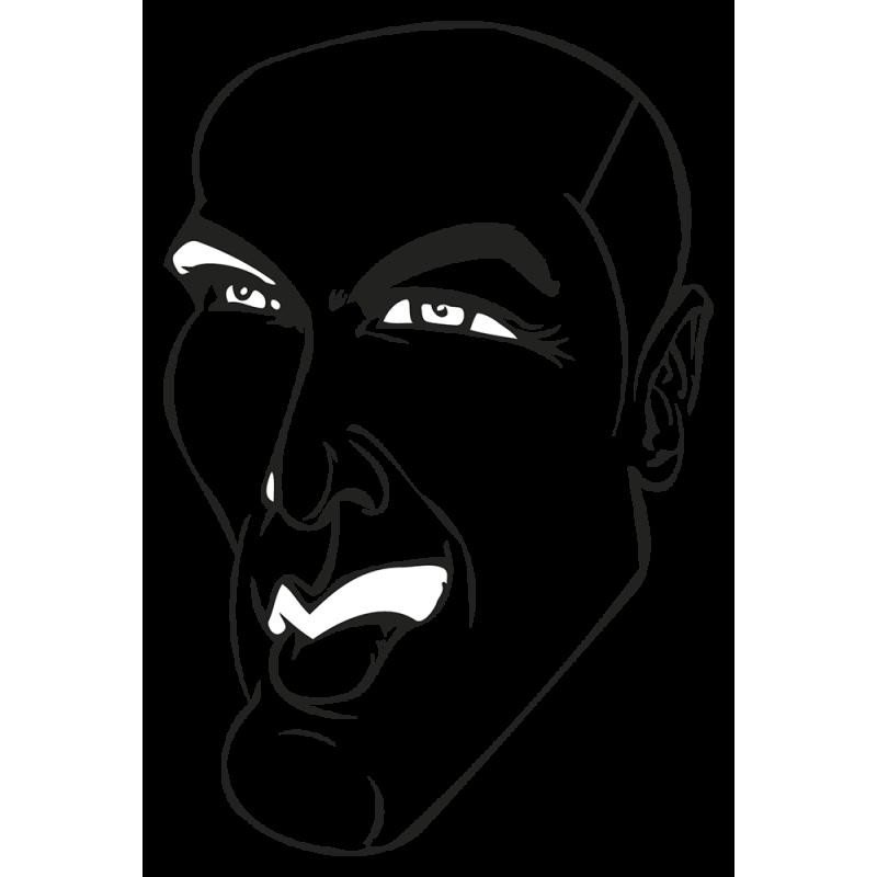 Sticker Zidane Caricature