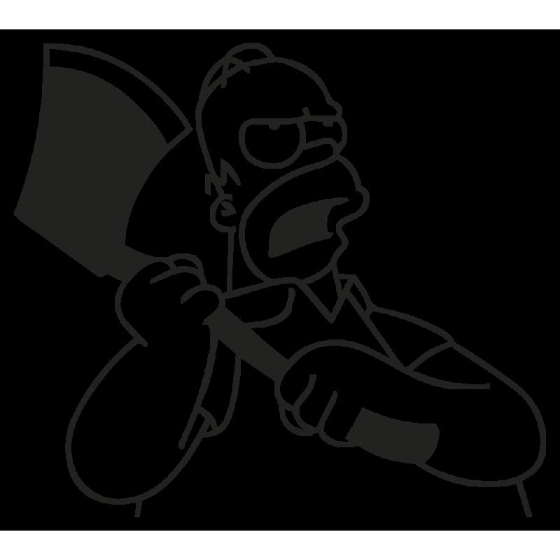 Sticker  Homer Hache