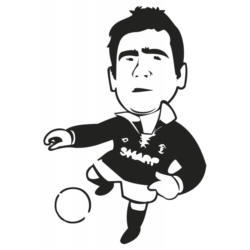 Sticker Foot Cantona