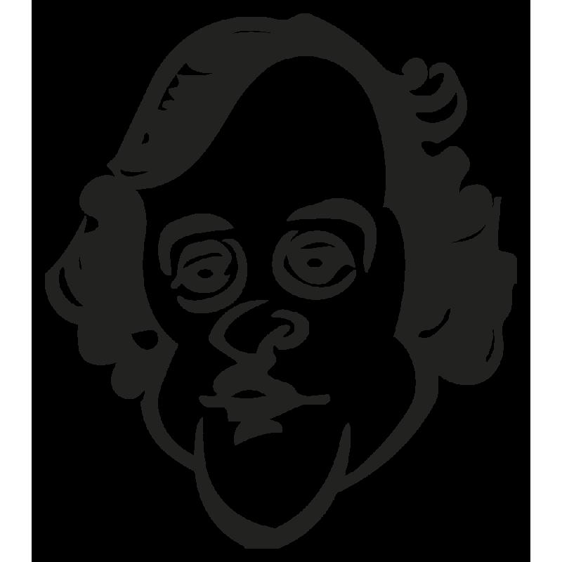 Sticker Caricature Platini