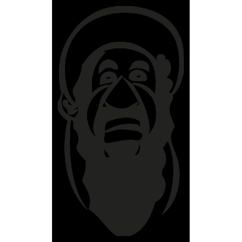 Sticker Caricature Ben Laden