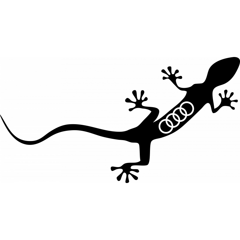 Sticker Audi Gecko Logo