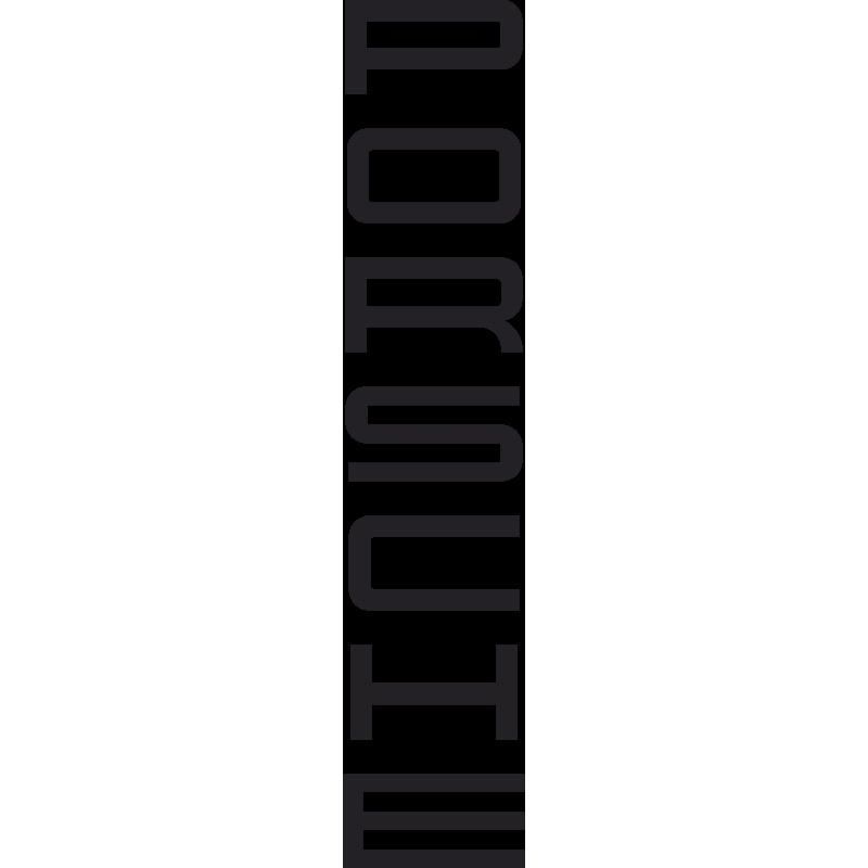 Sticker Porsche Vertical