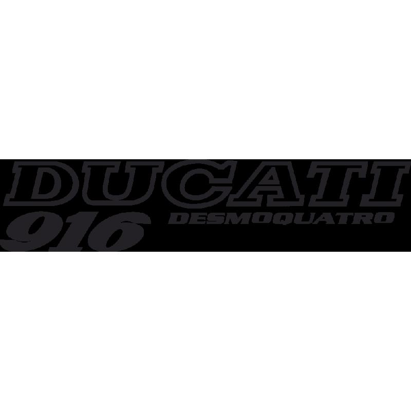 Sticker Ducati Desmoquatro 916 Gauche