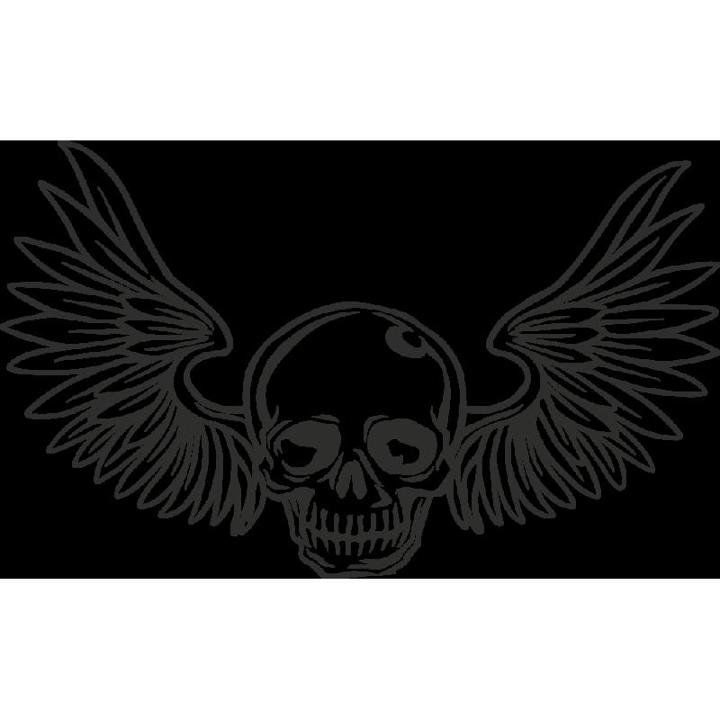 Sticker Skull Wings
