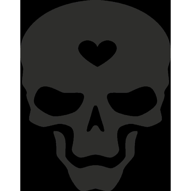 Sticker Skull Heart