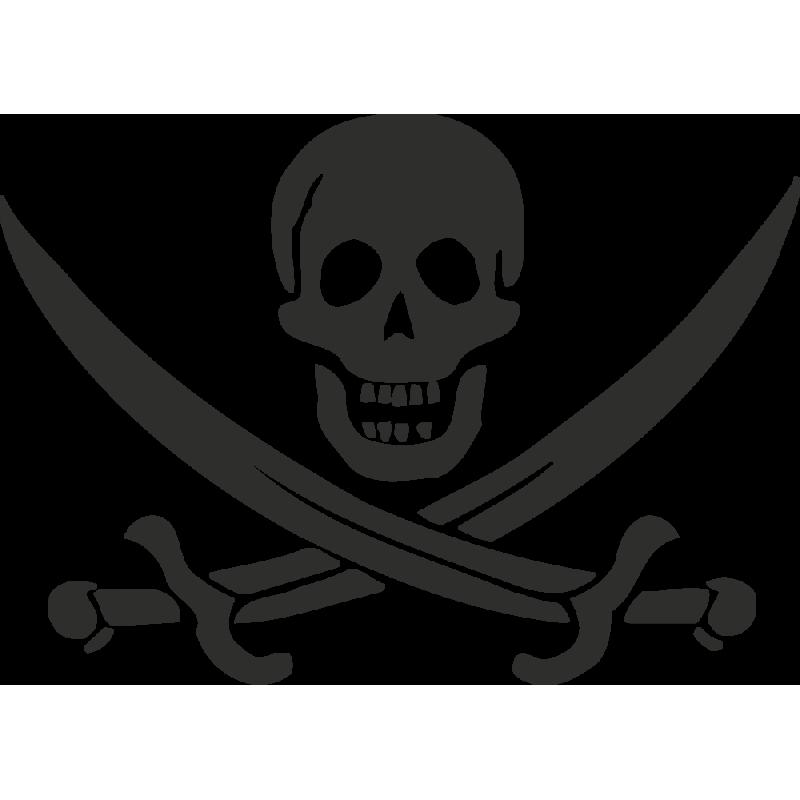 Sticker Skull Pirate