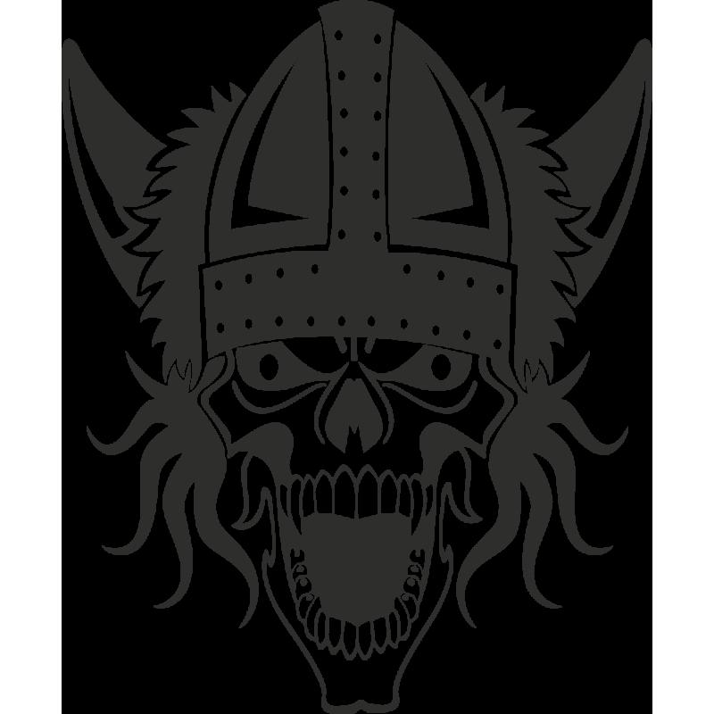 Sticker Skull Viking