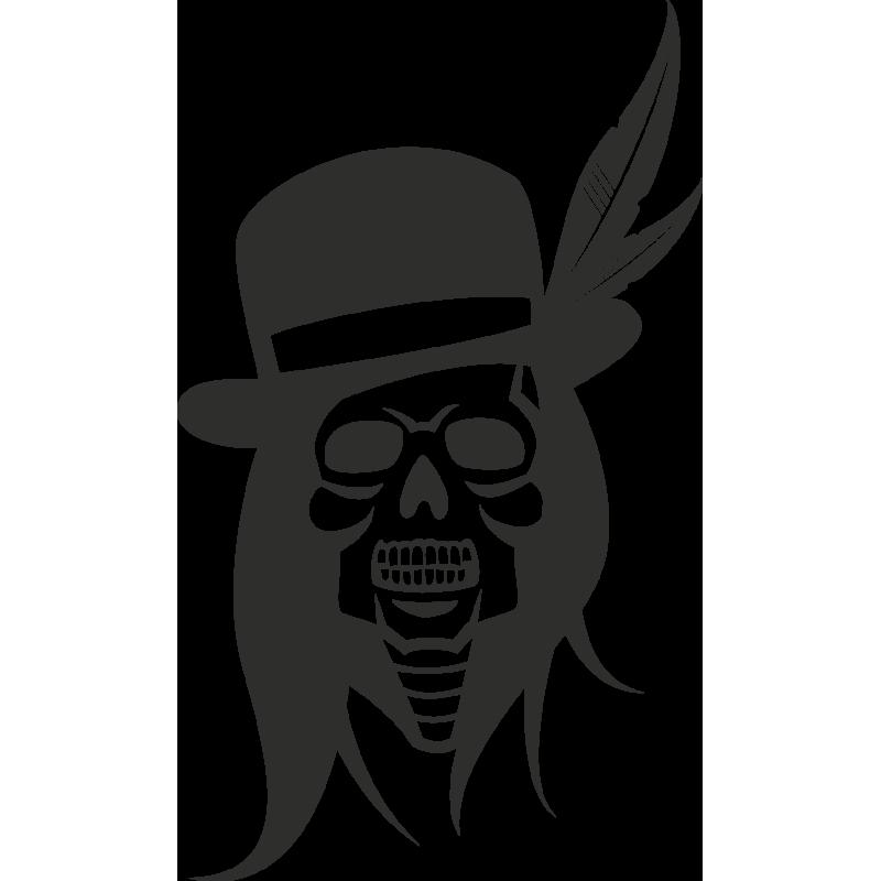 Sticker Skull Indien