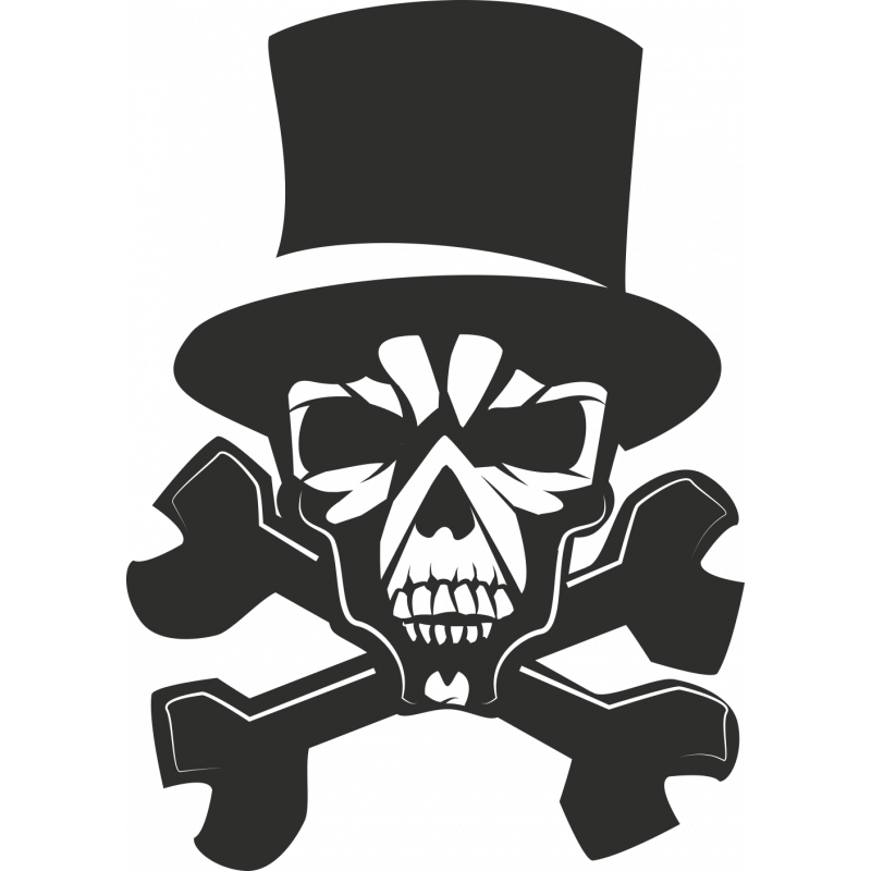 Sticker Skull Chapeau
