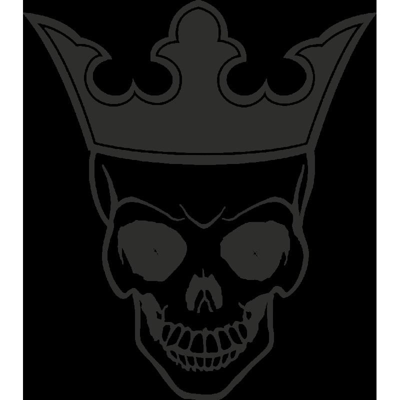 Sticker Skull Crown