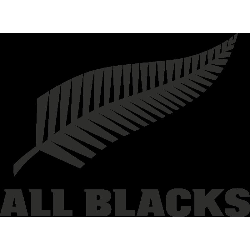 Sticker Rugby Logo All Blacks