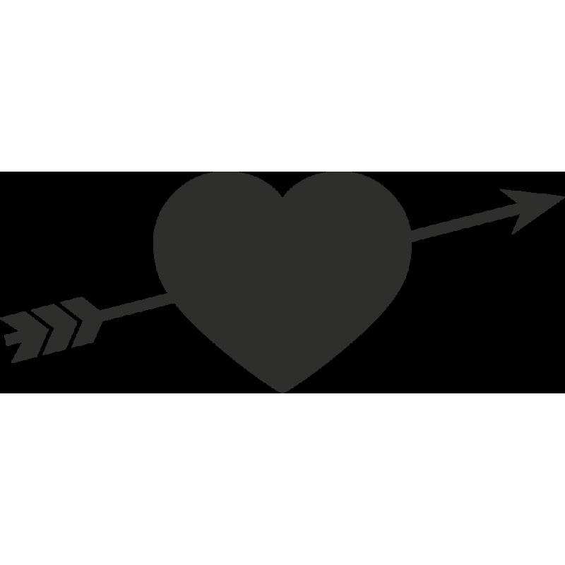 Sticker Coeur Flèche