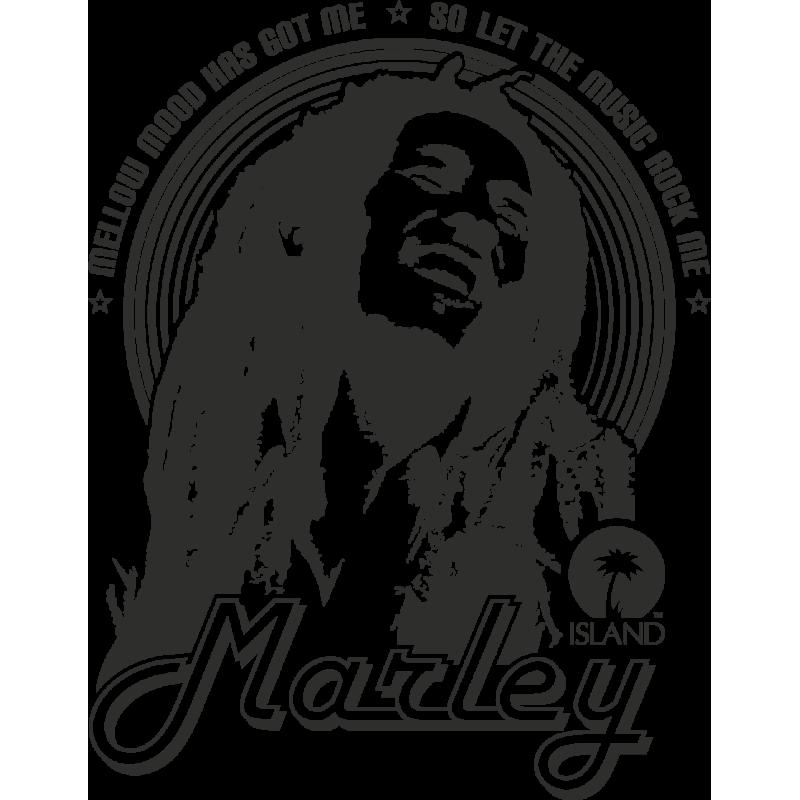 Sticker Bob Marley Mellow Mood