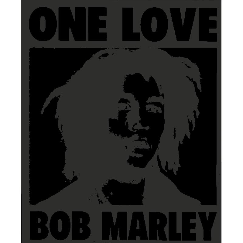 Sticker Bob Marley One Love