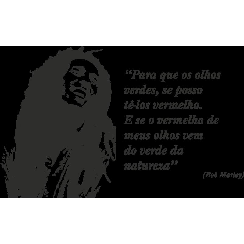 Sticker Bob Marley Phrase