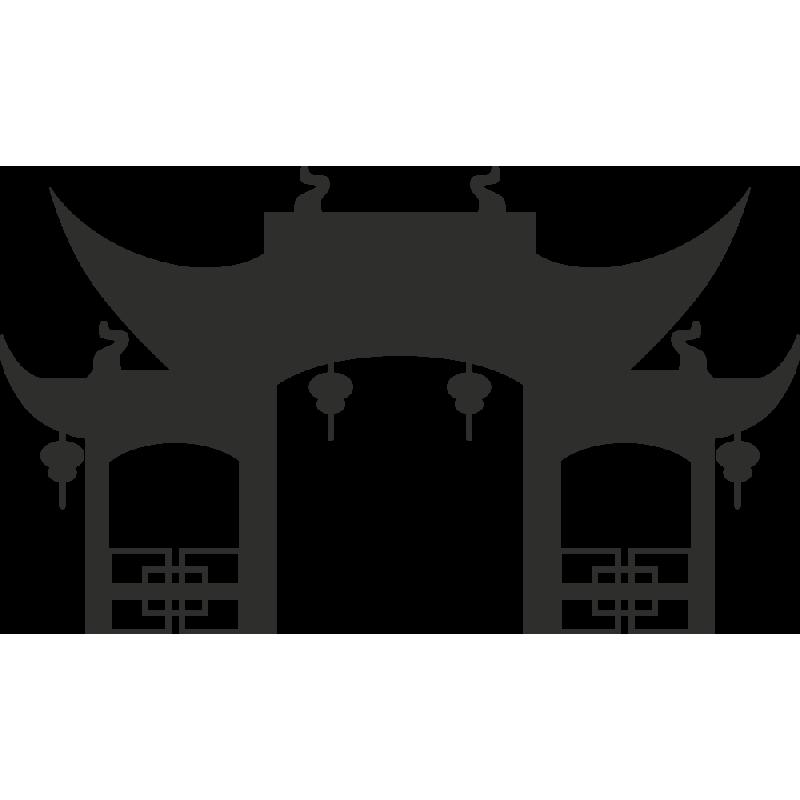 Sticker Temple Bouddha