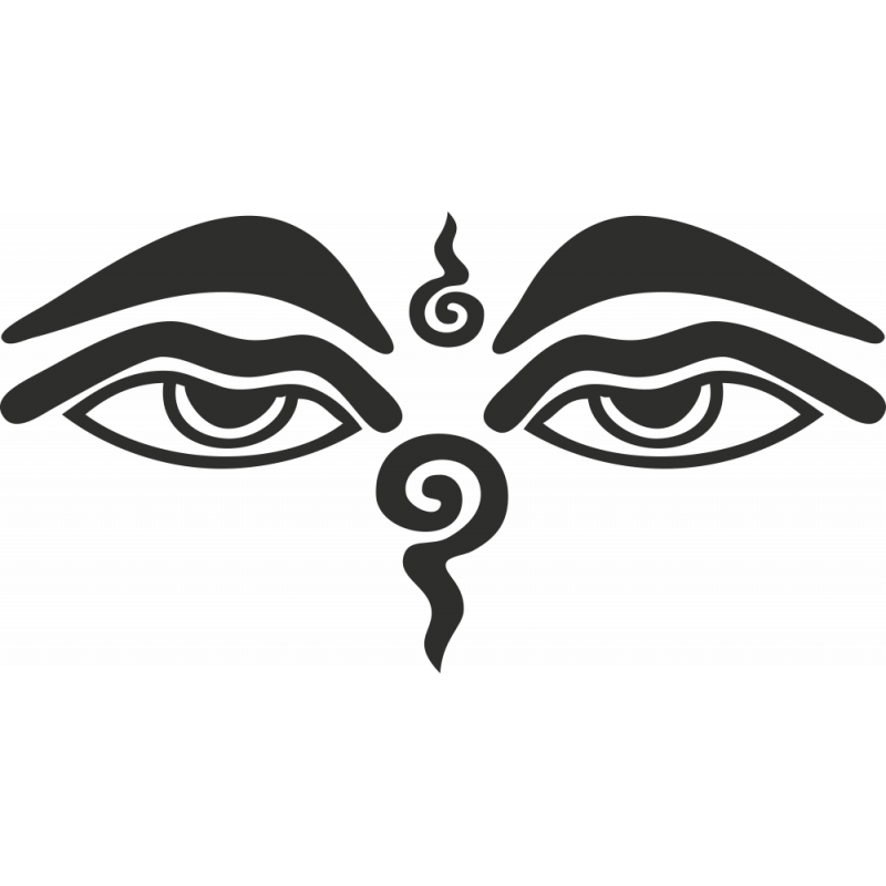 Sticker Symbole Yeux De Bouddha