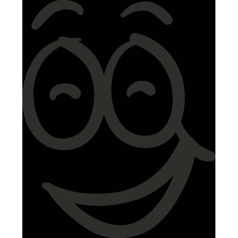 Sticker Smiley Sourire
