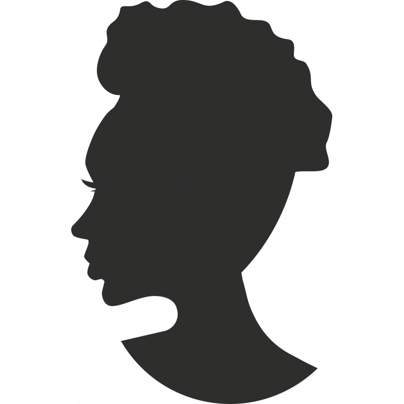 Sticker Femme Visage Silhouette