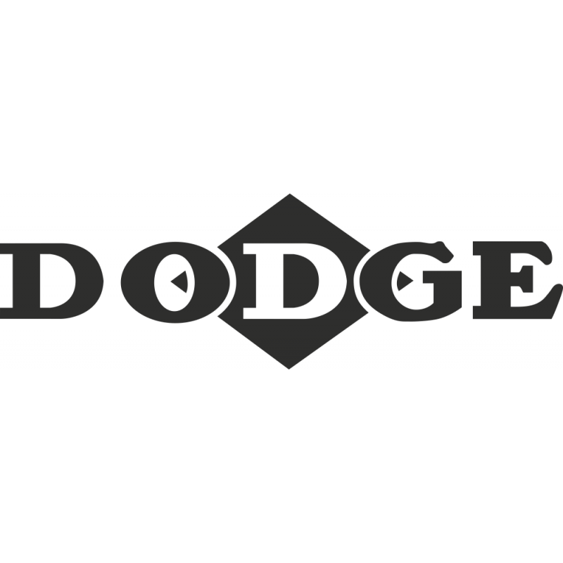 Sticker Dodge Logo Losange