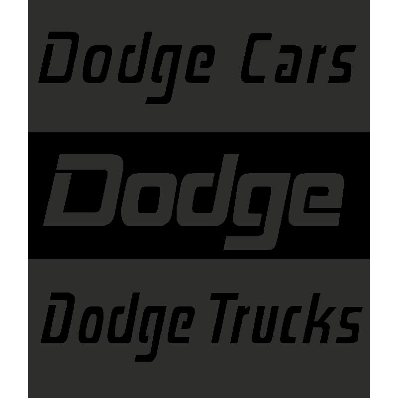 Sticker Dodge Cars Trucks