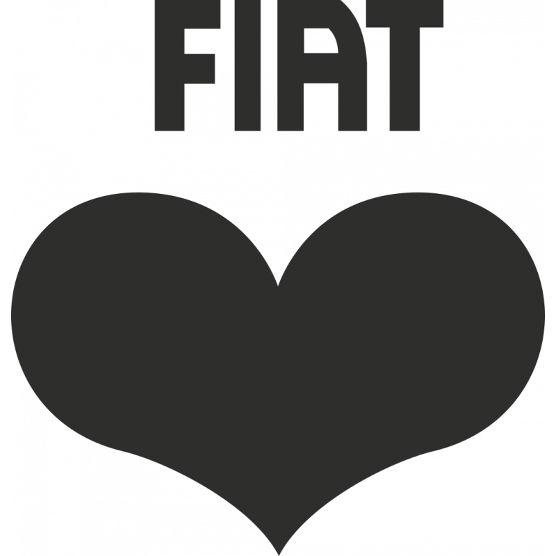 Sticker Fiat Coeur