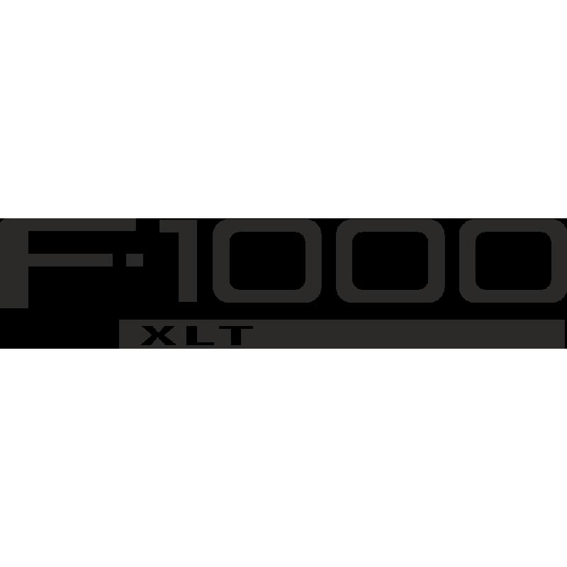 Sticker Ford F1000 Xlt