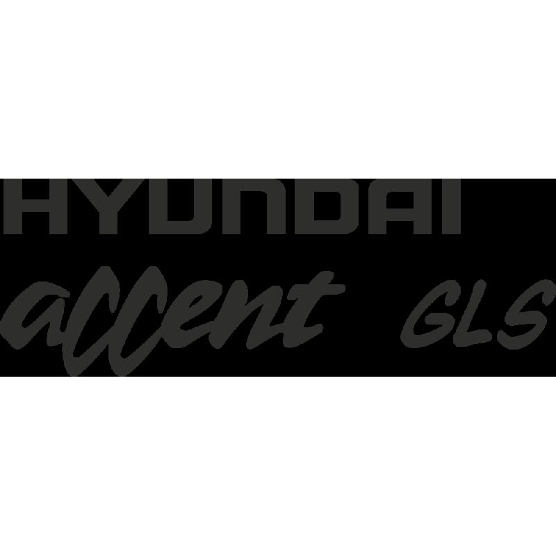 Sticker Hyundai Accent Gls