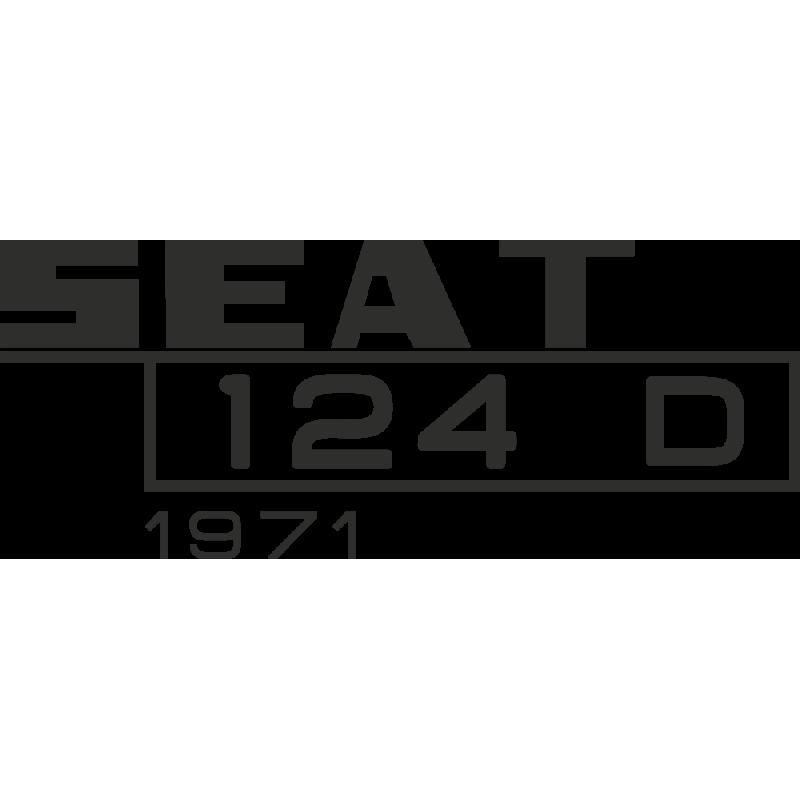Sticker Seat 124d 1971