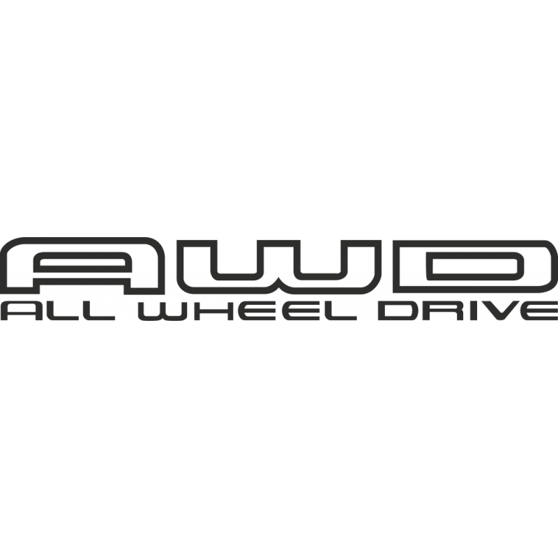 Sticker Subaru Awd All Wheel Drive