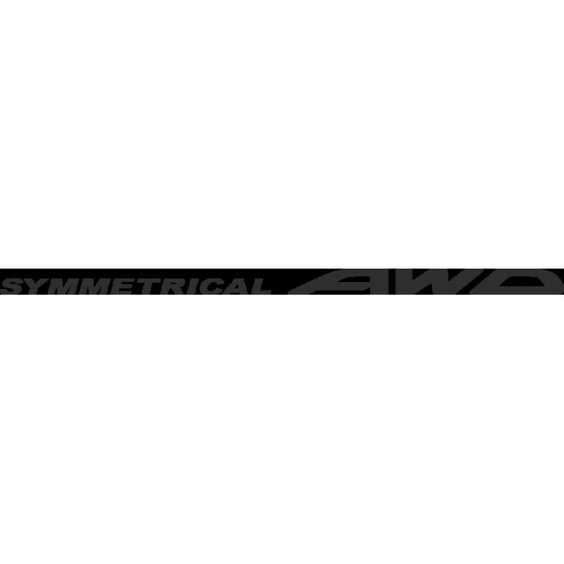 Sticker Subaru Awd Symetrical