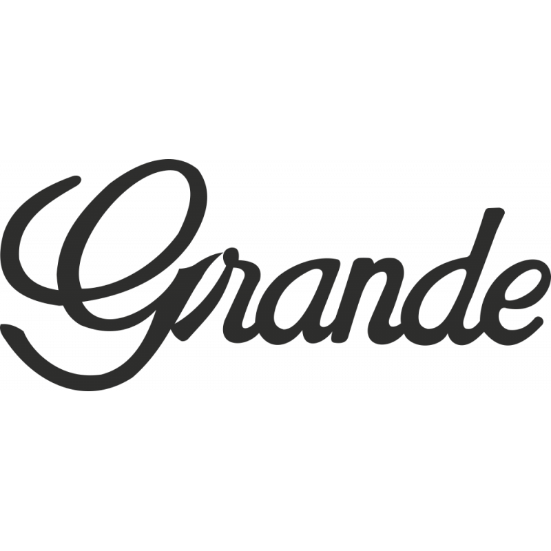 Sticker Toyota Grande
