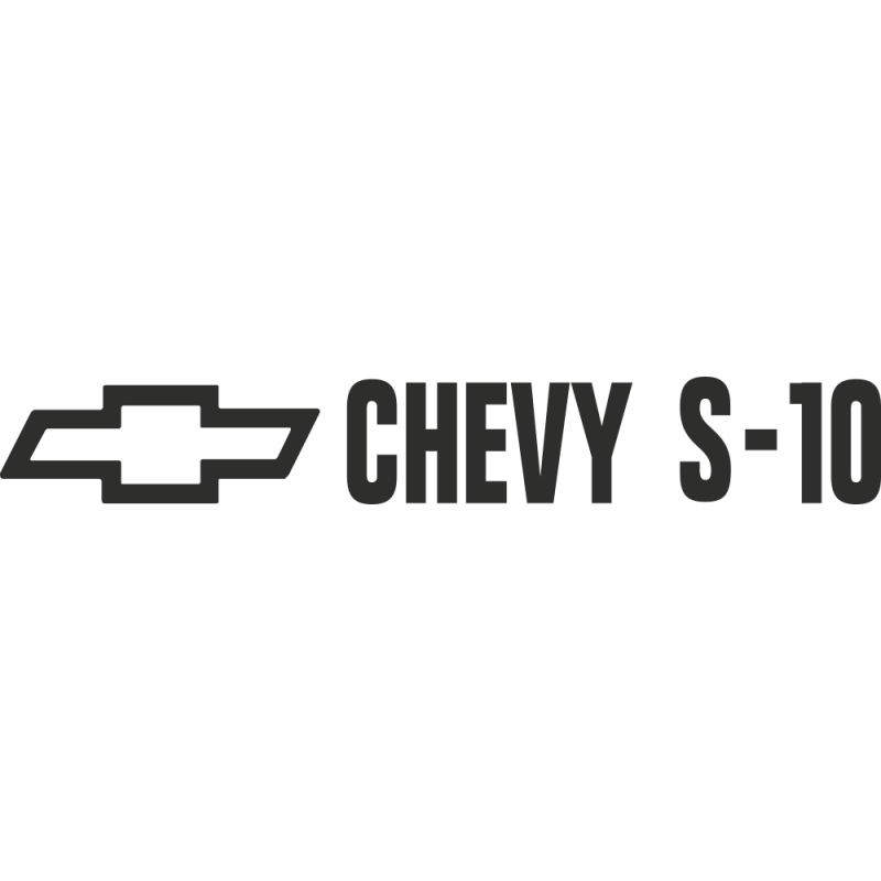 Sticker Chevrolet Trucks S10