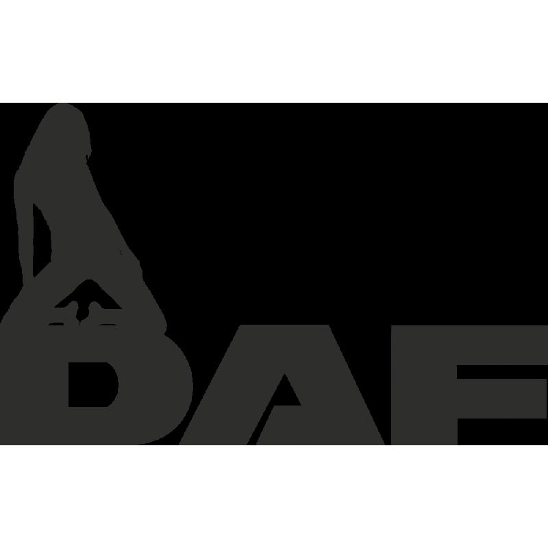 Sticker Daf Logo Femme