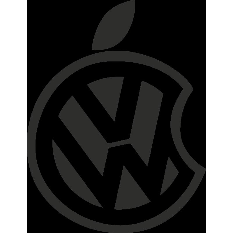 Sticker Apple Vw