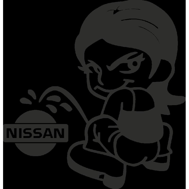 Sticker Piss Girl Nissan