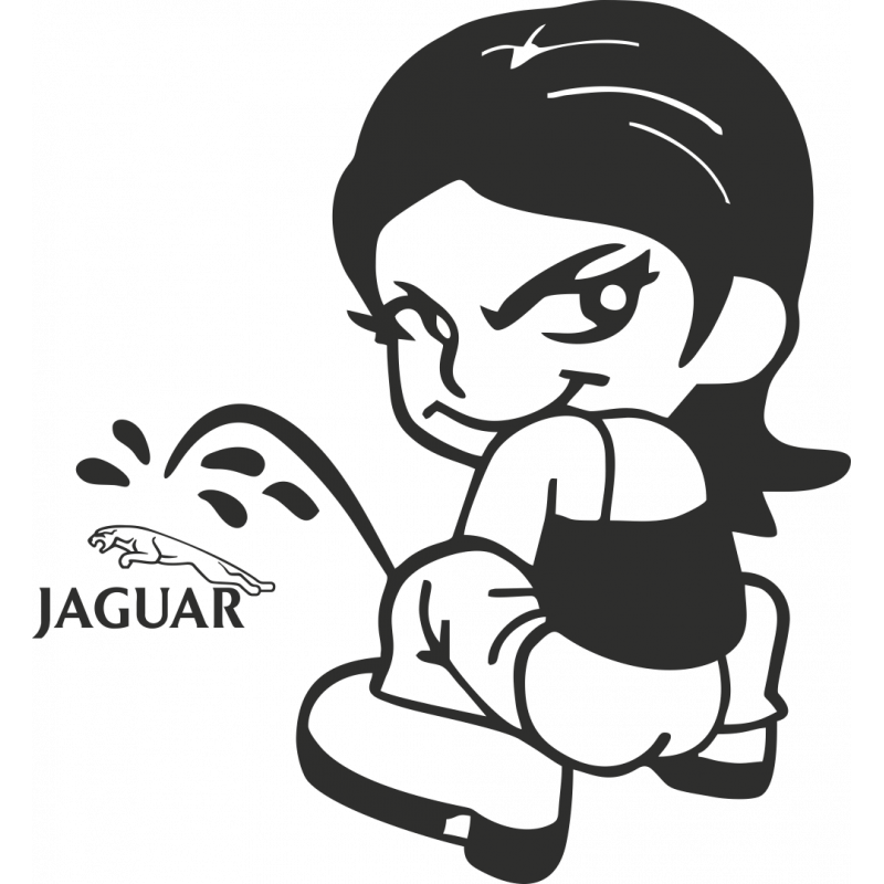 Sticker Piss Girl Jaguar