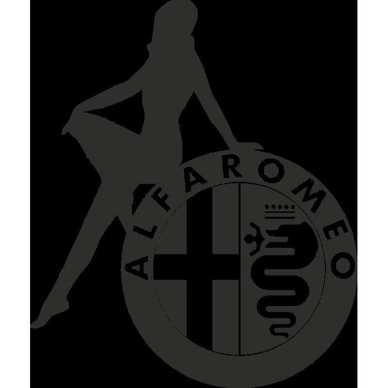 Sticker Sexy Logo Alfa Romeo