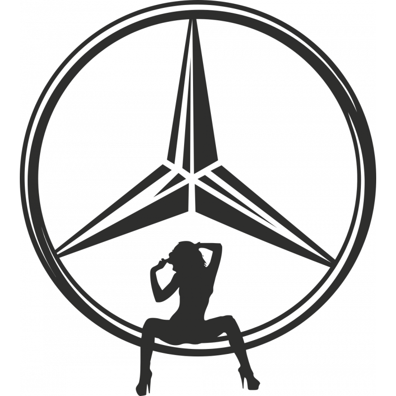 Sticker Sexy Logo Mercdes