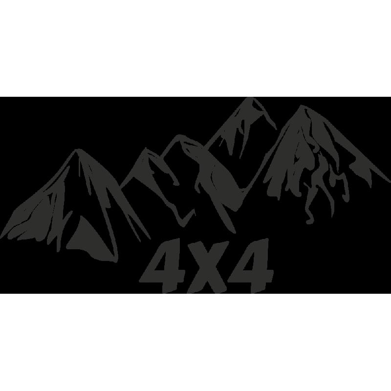 Sticker Montagne 4x4
