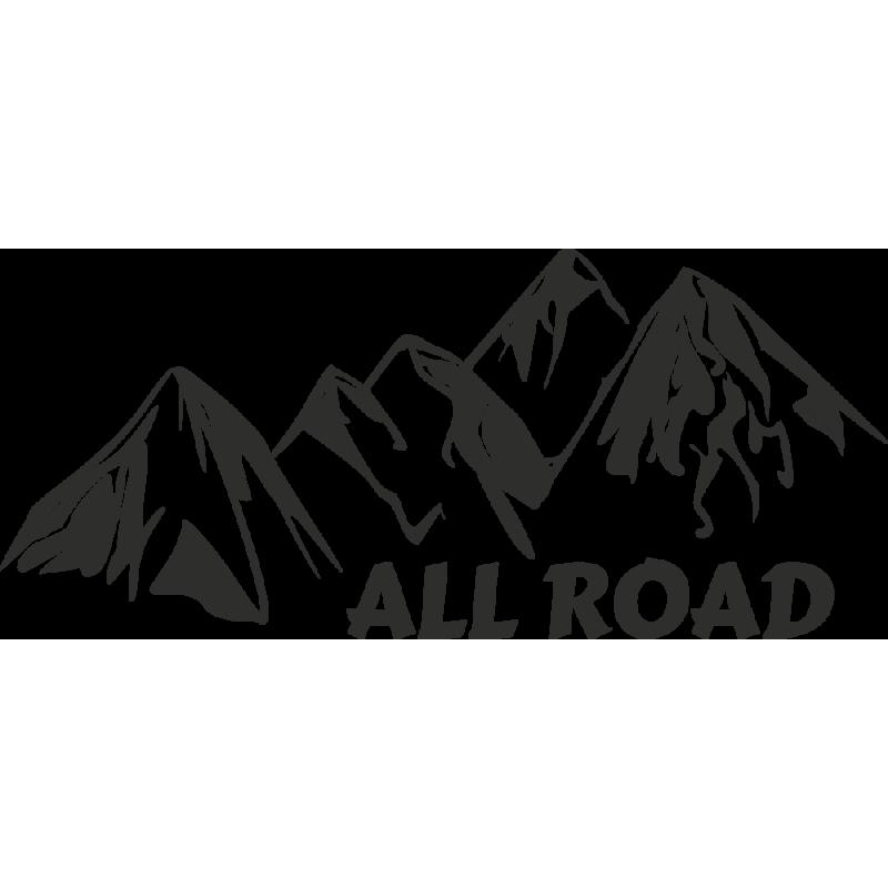 Sticker Montagne All Road