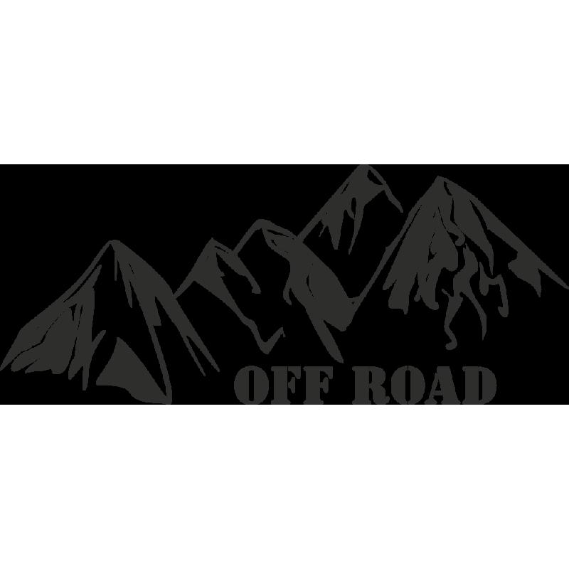 Sticker Montagne Off Road