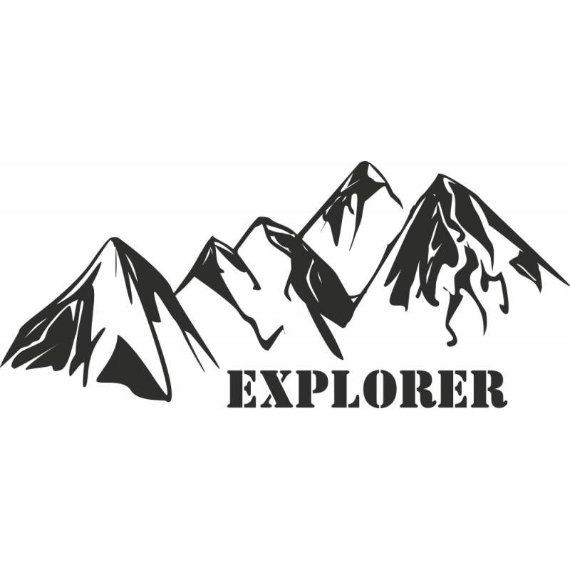 Sticker Montagne Explorer