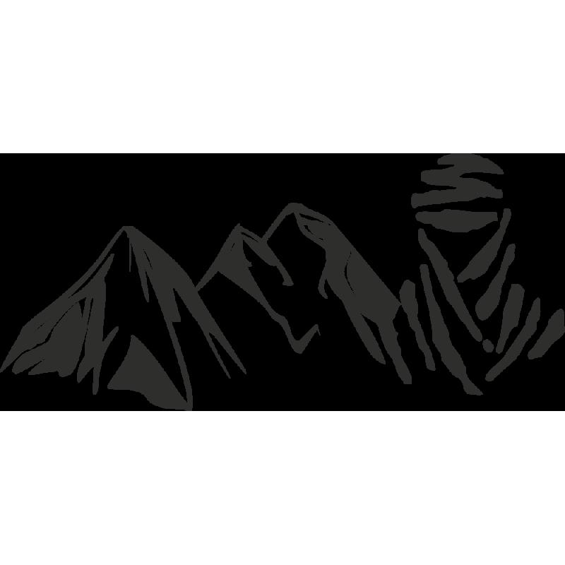 Sticker Montagne Touareg