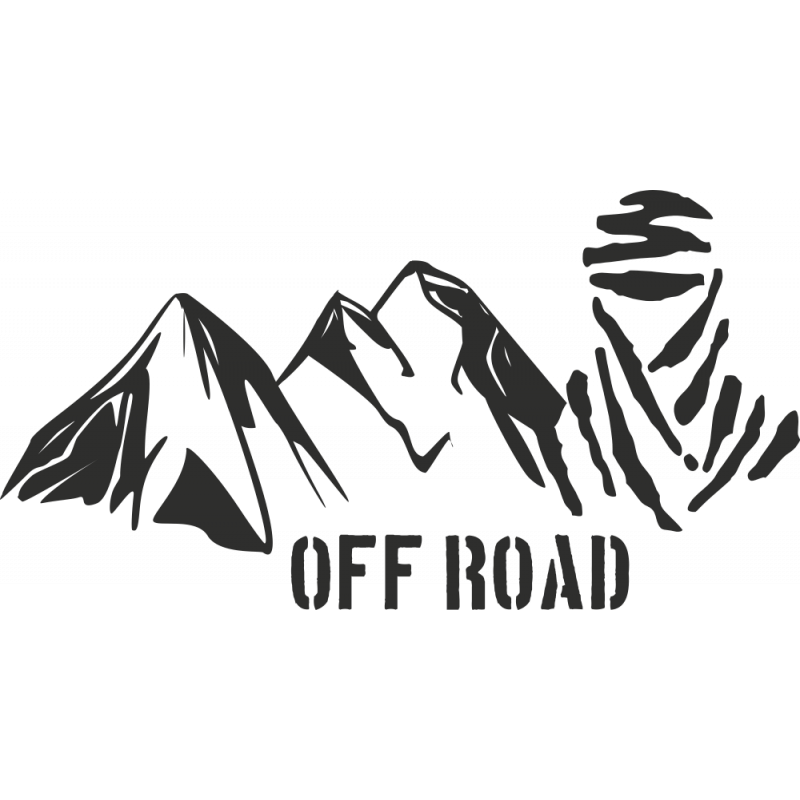 Sticker Montagne Touareg Off Road