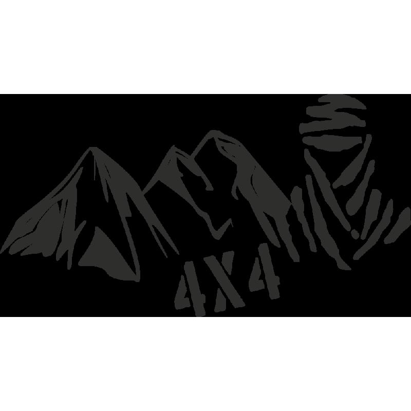 Sticker Montagne Touareg 4x4