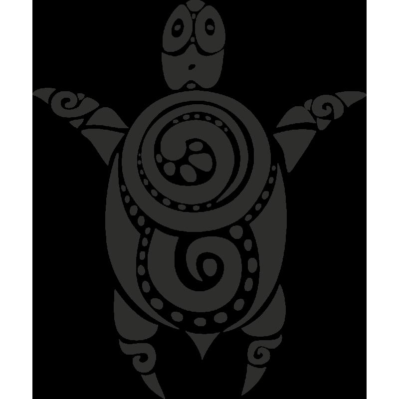 Sticker Tortue Tribal