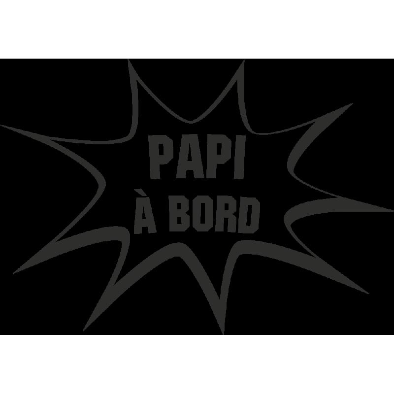 Sticker Humour Papi